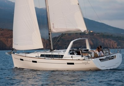 Beneteau Oceanis 41 sailing in Jersey waters