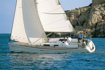 Dufour sailing yacht in Jersey
