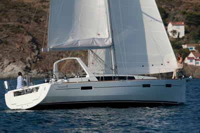 Beneteau sailing yacht in Jersey